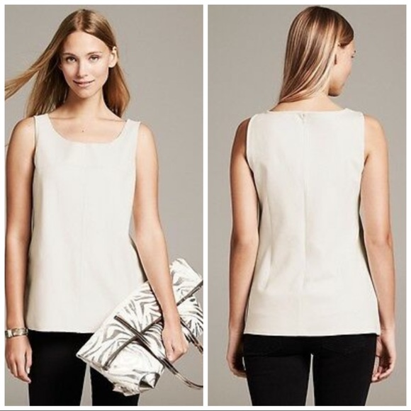Banana Republic Vegan Leather Top size 4
